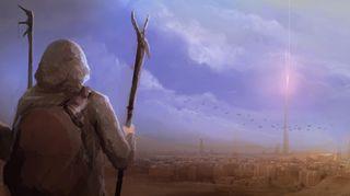 R169_457x256_3234_Goresh_2d_fantasy_arcane_desert_magic_tower_city_adventure_landscape_picture_image_digital_art
