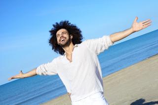 Happy-Man-on-the-Beach